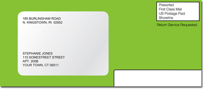 Image of sample BankMobile envelope.