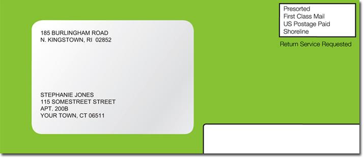 Image of sample BankMobile envelope.