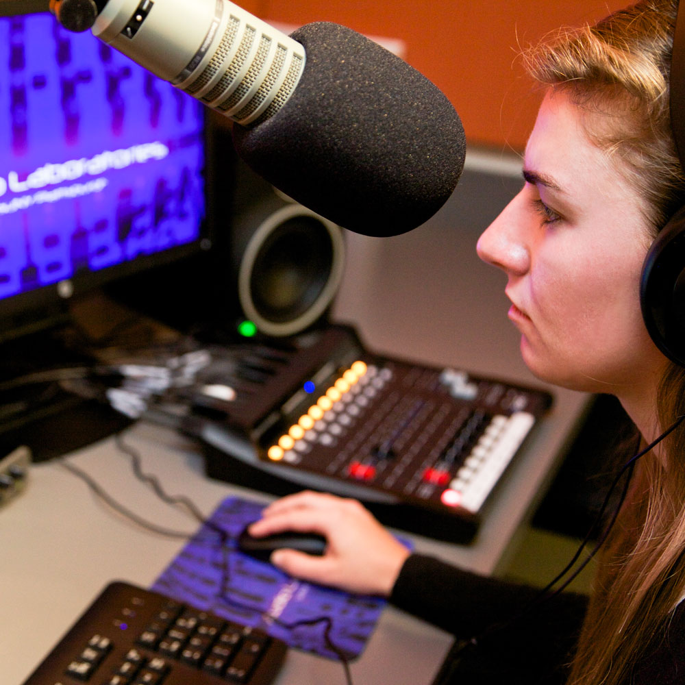 Check out the internships available to Audio-Radio Production Majors.