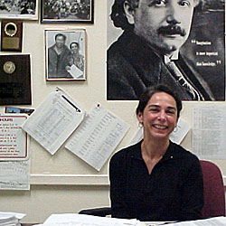 Deborah Jay DeSilva laughing at a joke in her office