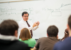 Photo of Dr. Mohamed Gaber giving a class lecture