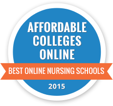 Affordable Colleges Online Best Online Nursing Schools 2015 badge