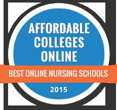 Affordable Colleges Online Best Online Nursing Schools 2015 badge