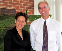 Photo of Neisha Lestrade with Dr. Christopherson