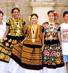 Photo of women in Latin American traditional clothing