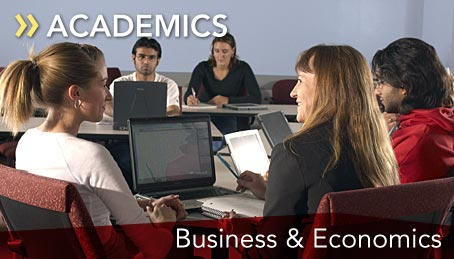 Business students in the classroom