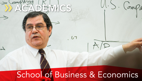Dr. Mohamed Gaber teaching an accounting class