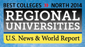 Logo: Best Colleges North 2014, Regional Universities, U.S. News & World Report