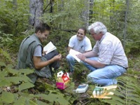 Field Ecology students with Dr. Ken Adams