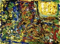 Image of a non-figurative, multi-colored, abstract painting