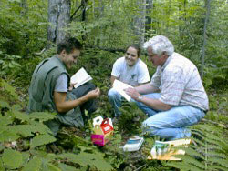 image of Ken Adams with Ecology students