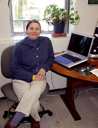 Photo of Lisabeth Kissner in her office