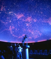 Photo of the planetarium during a show