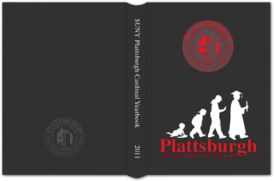 Photo showing the cover of 2011 SUNY Plattsburgh yearbook