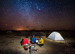 Photo of students camping in Baja, Mexico. Photo by Blake Crosby.