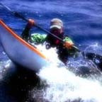 Photo of Larry Soroka kayaking