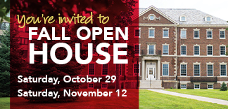 Schedule a visit to campus for Fall Open House