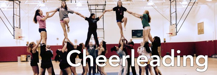 Photo of students in the Cheerleading Club