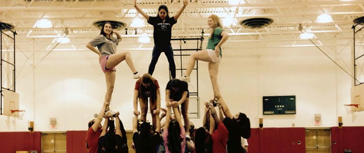 Photo of Cheerleading Club in action.