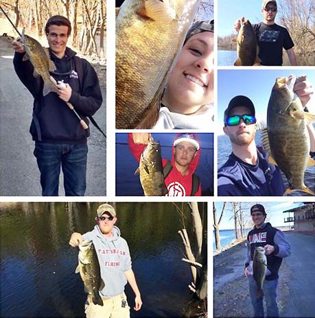 Photo of member of the SUNY Plattsburgh Fishing Club