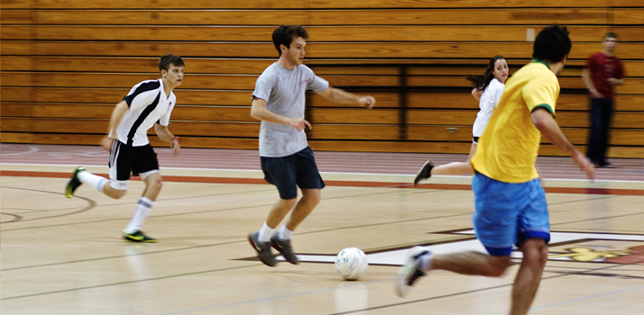 Photo of indoor soccer game