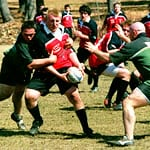 Photo of a men's rugby game