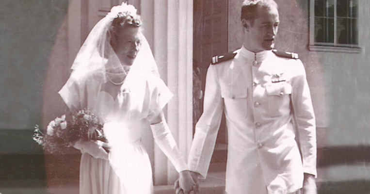 Photo of Dr. Jonathan M. Allen and his wife Grace being married