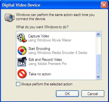 Illustration of Digital Video Device dialog