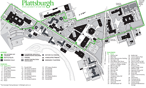 Click on this image to view the campus parking shuttle map. If you are unable to view this map, please contact admissions at (518) 564-2040 or toll-free at (888) 673-0012 for further assistance.
