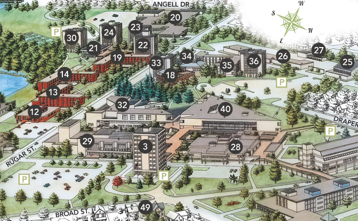 If you are unable to view this map, please contact the admissions office and we can provide directions for you. Phone: (518) 564-2040 or toll-free (888) 673-0012