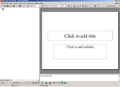 Illustration of PowerPoint's default Slide View