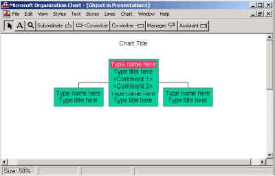 Illustration of Organization Chart tool
