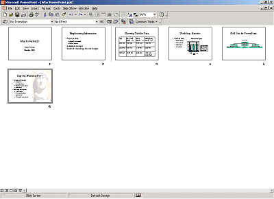 Illustration of PowerPoint's Slide Sorter view