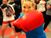 Photo of students boxing in a fitness class