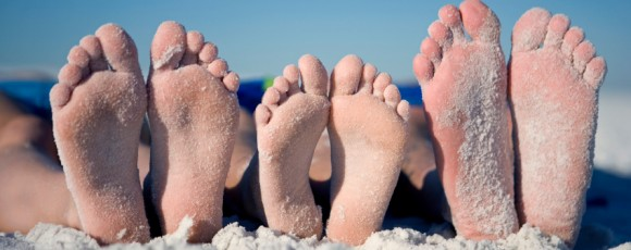 Image of feet on a beach