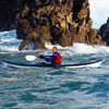 Photo of Steven Maynard in his kayak