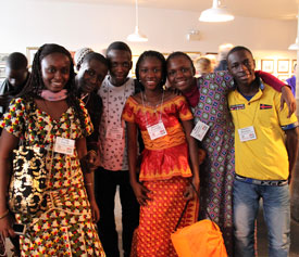 Photo of of african exchange students