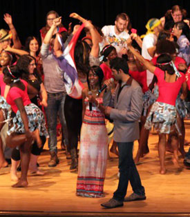 Photo of of 2011 Night of Nations celebration on the SUNY Plattsburgh campus