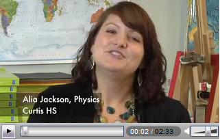 Screen cap of video interview with Alia Jackson.