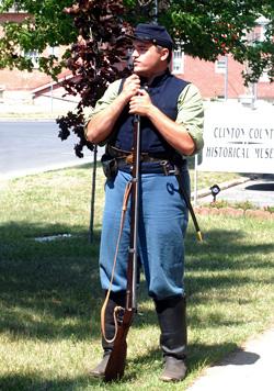 Photo of Matt Hewson dressed in a Civil War uniform