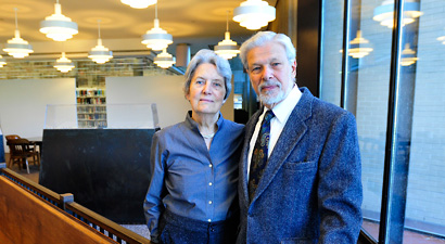 Photo of Doug and Evelyne Skopp in the Holocaust Gallery