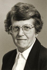 Photo of Phyllis Wells taken when she was a librarian at SUNY Plattsburgh