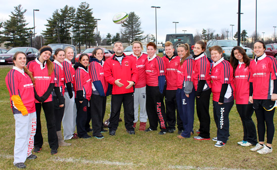 Photo of the women's rugby team