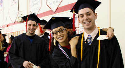 Photo of graduating students at commencement