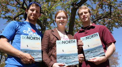 Photo of DoNorth Staff Writer Matt McDonald, Deputy Editor Krystle Morey and Photo Editor James Heffron.