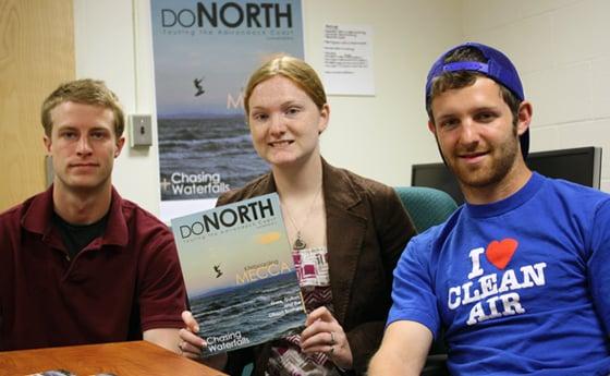 Photo of DoNorth Photo Editor James Heffron, Deputy Editor Krystle Morey and Staff Writer Matt McDonald.