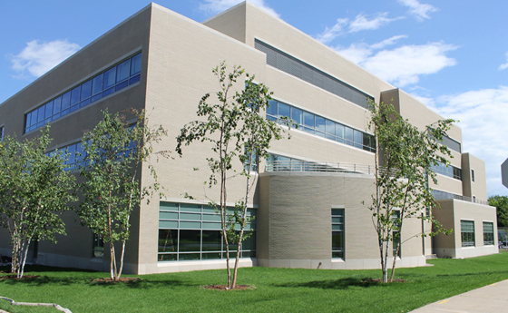 Photo of exterior of the new Business and Computer Science building