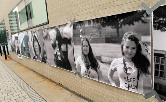 Photo of student guerrilla art project
