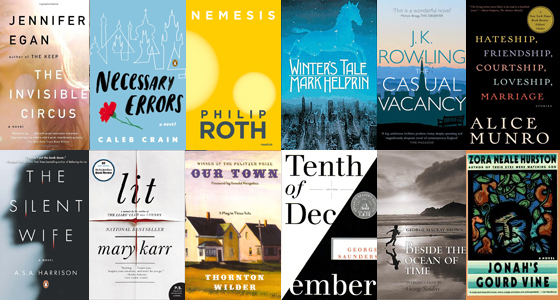 Photo of the covers of books recommended by English department faculty