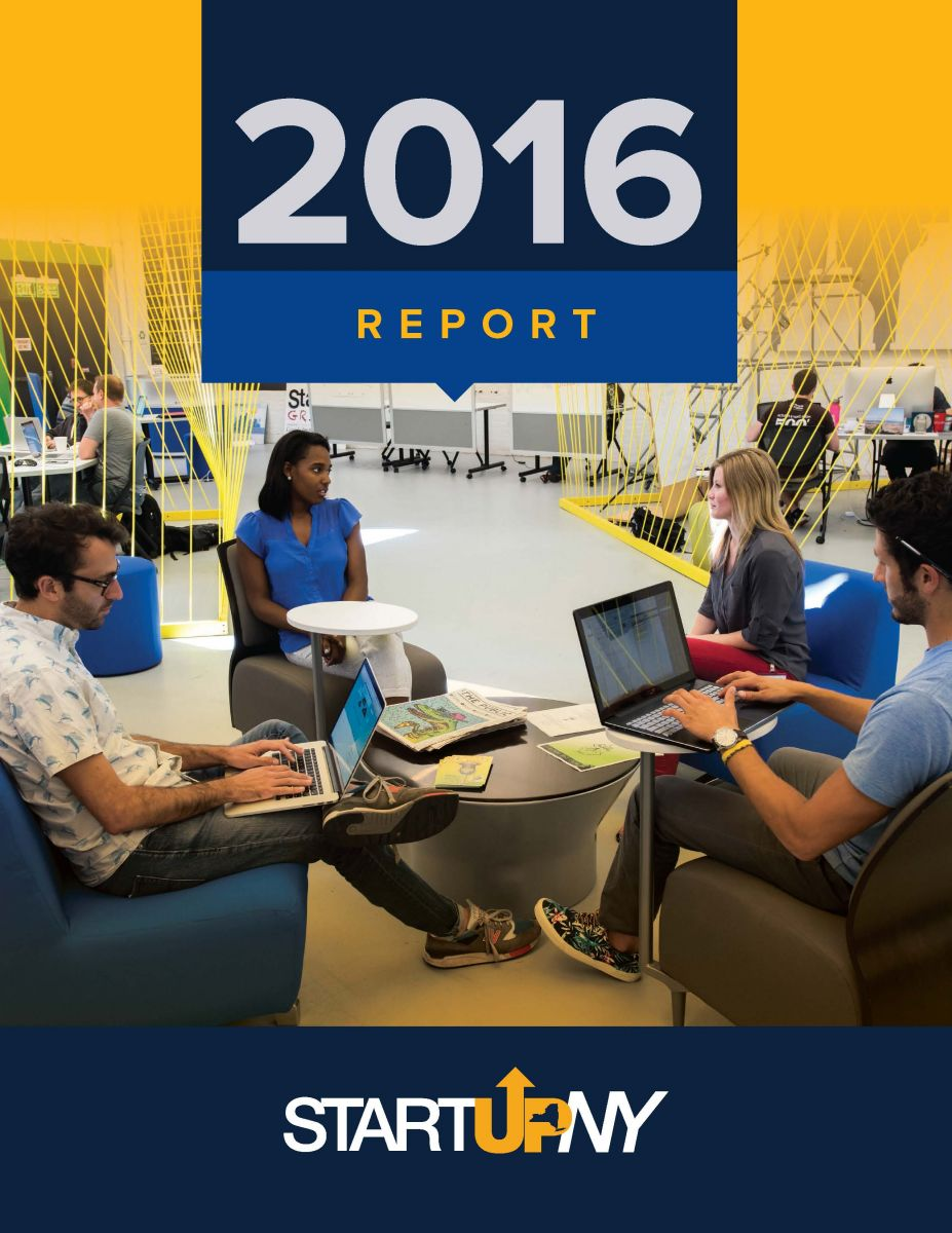 Cover of 2016 StartUp NY Report